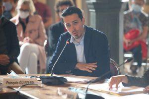 François Guiffard au Conseil d'installation, adresse aux Douaisiens